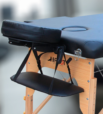 Review of H-ROOT Black leather Lightweight Portable Massage Table