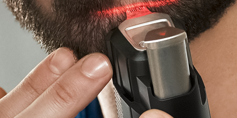 Philips BT9299/13 Series 9000 Laser Guided Beard & Stubble Trimmer in the use