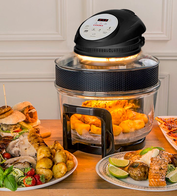 Review of Cooks Professional 17L digital display Electric Halogen Oven with Hinged Lid