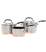 ProWare Set of 3 Copper Base Cookware
