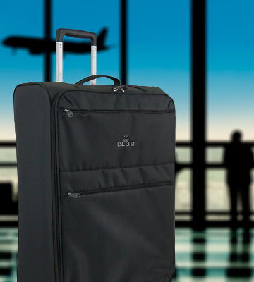 Review of Skylite Luggage Club Four Wheel Spinner Lightweight Suitcase (Large)