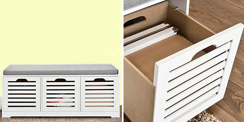 Review of SoBuy FSR23-W Storage Bench with 3 Drawers & Removable Seat Cushion