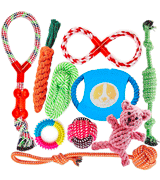 FONPOO Avoiding Boredom Anxiety Dog Chew Toys Set