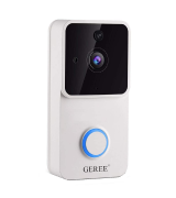 GEREE 1080P Video Doorbell (Night Vision, 166° Wide Angle, PIR Motion Detection)