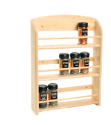 T&G Scimitar 18-Jar Wall Spice Rack