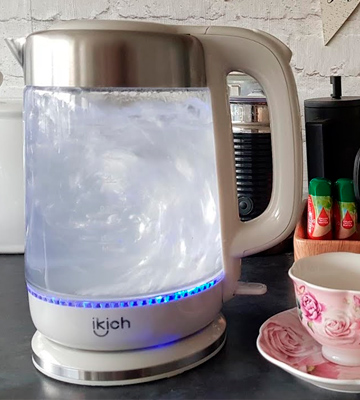 Review of IKICH 1.7L Cordless Eco Glass Electric Kettle