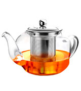AckMond Apple Shape Clear Glass Teapot