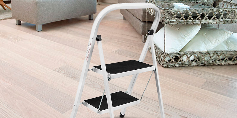 Review of Home Discount Discount 2 Step Ladder Heavy Duty Steel, Portable Folding