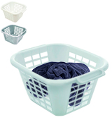 Addis Square Laundry Basket Plastic, Ventilation Slots
