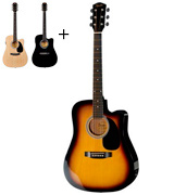 Fender 0930307032 SA-105CE Dreadnought acoustic Electric Guitar