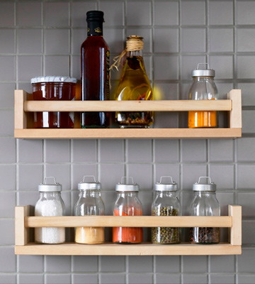 Review of IKEA 4 racks BEKVAM Wooden Spice Rack