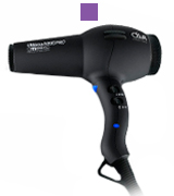 Diva Professional Styling Ultima 5000 PRO Black Rubberised Hairdryer with Wand
