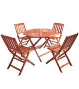 VonHaus 22/051 Wooden Garden Furniture Set