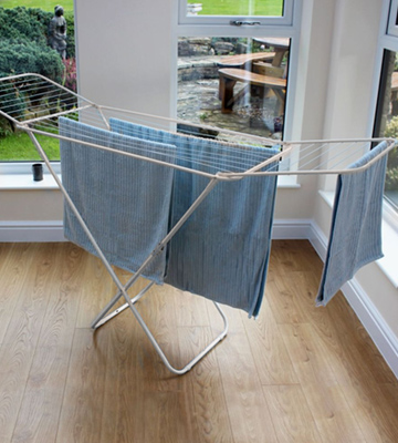 Review of Home Discount Winged Folding Clothes Airer 18 Metre Drying Space
