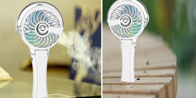 Review of HandFan Portable Misting Fan with 7 Color Flash Light