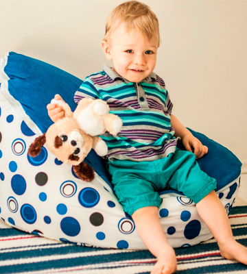 Review of Mama Baba Baby Bean Bag Blue Snuggle Bed Bouncer with Filling