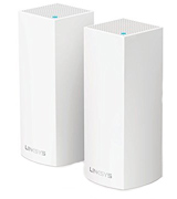 Linksys Velop (WHW0302-UK) Tri-Band AC4400 Intelligent Whole Home Mesh Wi-Fi System, Works with Alexa (Pack of 2)
