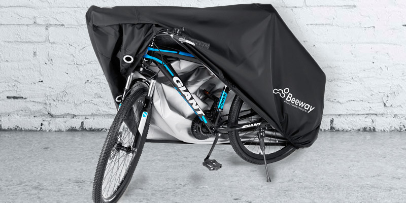 Beeway 190T Nylon Waterproof Bicycle Cover Anti Dust Rain UV Protection for Mountain Bike Bike Cover for 2 Bikes Road Bike with Lock-holes Storage Bag