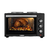 Tower T14014 Mini Oven with Double Hotplates and Rotisserie