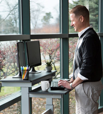 Review of Stand Up Desk Store SUD40-BK-WPS Mobile Standing Desk