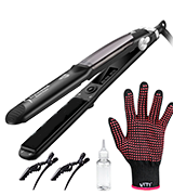 VITI Professional Steam Styler Flat Iron Hair Straightener with Dual Voltage