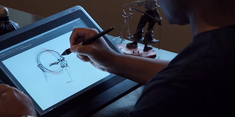 Wacom Cintiq 16 Drawing Tablet in the use