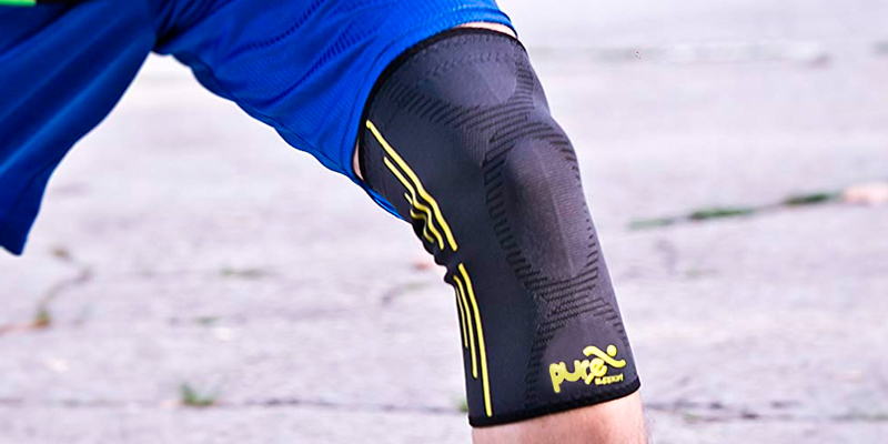 Review of PURE SUPPORT Compression Knee Sleeve Knee Brace for Meniscus Tear, Arthritis, Quick Recovery