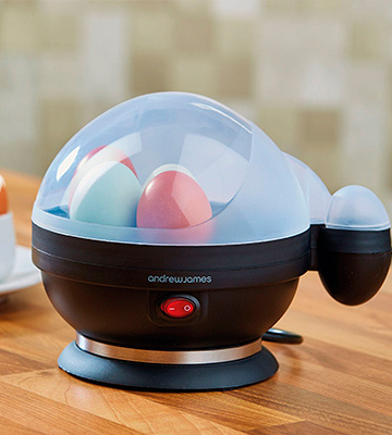 Review of Andrew James EASY Egg Boiler Poacher Electric Cooker with Steamer Attachment