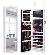 LANGRIA V3JPFNOK-YKUK-F1 Wall/Door -Mount Hanging Mirror Jewellery Cabinet Armoire Full-Length