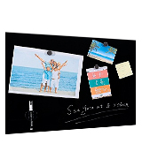 Stationery Island SI15-OS-GB-4560BK Magnetic Glass Board 60x45cm