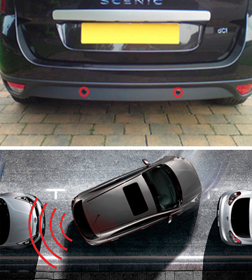 Review of BV & Jo Black Rear Car Parking Reversing with 4 Sensor Buzzer Mini box Kit