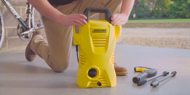 Karcher K2 Compact Pressure Washer in the use