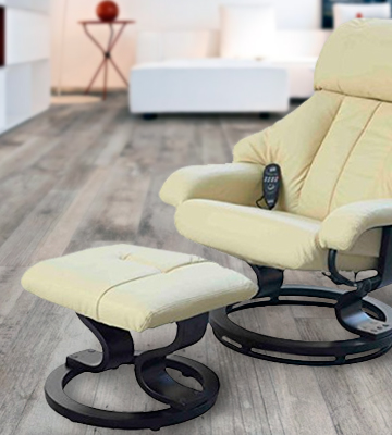 Review of HomCom 5550-3472 Leather Chair Recliner with Foot Stool