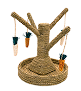 Rosewood Bunny Tree Chew and Scratch Toy