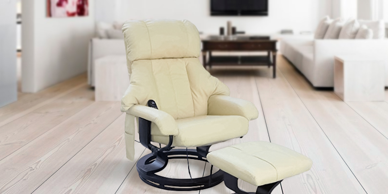 HomCom 5550-3472 Leather Chair Recliner with Foot Stool in the use
