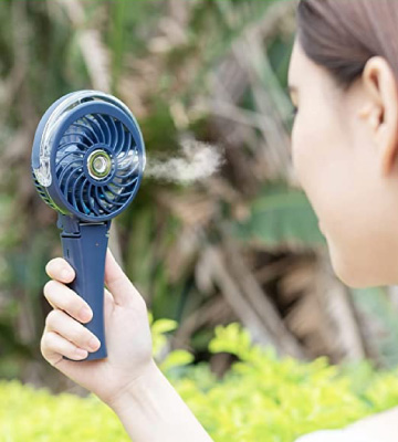 Review of COMLIFE Handheld Misting Fan Mini Rechargeable Battery Operated Fan