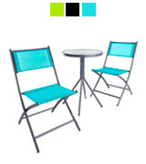 VonHaus 22/068 Garden Table & Chair Bistro Set