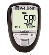 Wellion Luna Duo Cholesterol and Glucose monitor ideal for home monitoring.