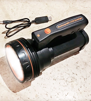 Review of Ambertech Powerful Led Touch Rechargeable 7000 Lumens Super Bright LED Searchlight Spotlight