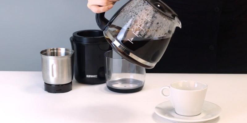 Duronic CG250 Electric Coffee Grinder in the use