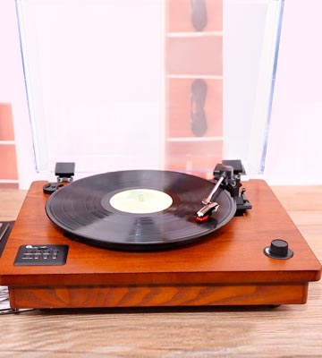 Review of 1byone 471UK-0002 Vintage Style Turntable with Built-In Speakers