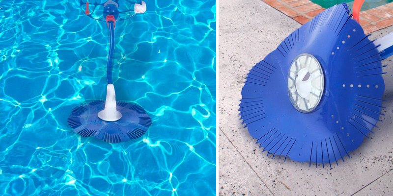 Jacksking Swimming Pool Cleaner Vacuum Sweeper in the use