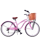 AMMACO PINK / WHITE Cruiser Bike