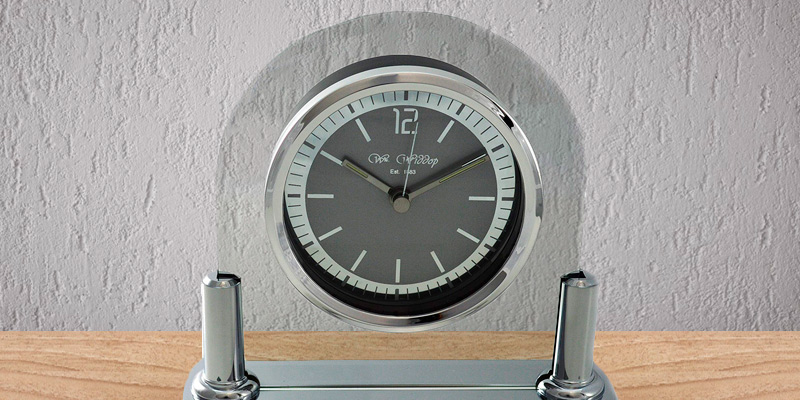 Review of Widdop Modern Mantel Clock Two Tone Quartz Arched Design