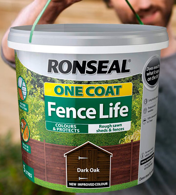 Review of Ronseal RSLOCFLCE5L One Coat Fence Life