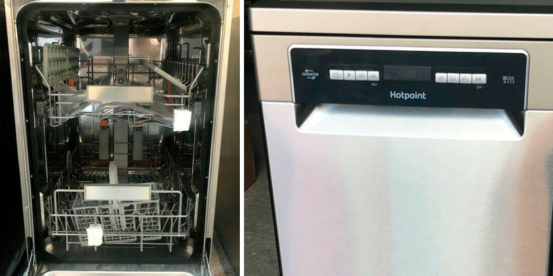 Hotpoint HSFO3T223WX 10 Place Slimline Freestanding Dishwasher in the use