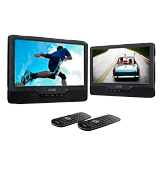 LOGIK L9DUALM13 9-Inch Twin Screen Portable Dual Car DVD Player