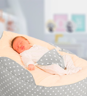 Review of RUComfy RUCGAGASTARSPLATINUM Luxury Cuddle Soft Stars Gaga Baby Bean Bag (Platinum)