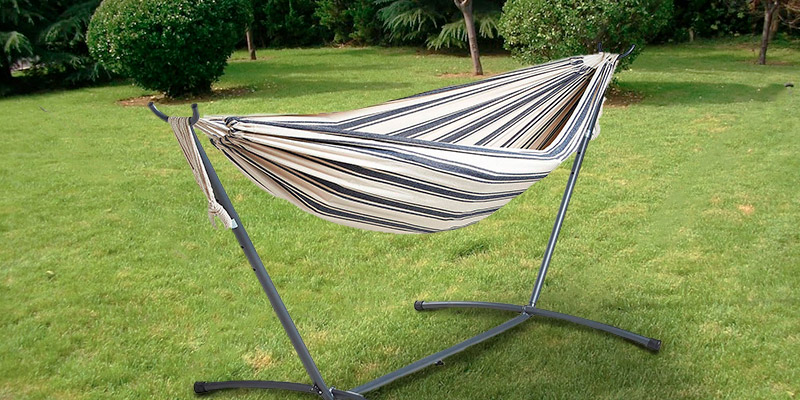 Review of VonHaus 2 Person Fabric Hammock with Stand