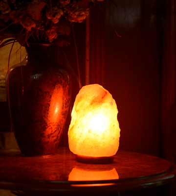 Review of Salt Lamps Himalayan salt lamp Natural Rock On Wooden Base